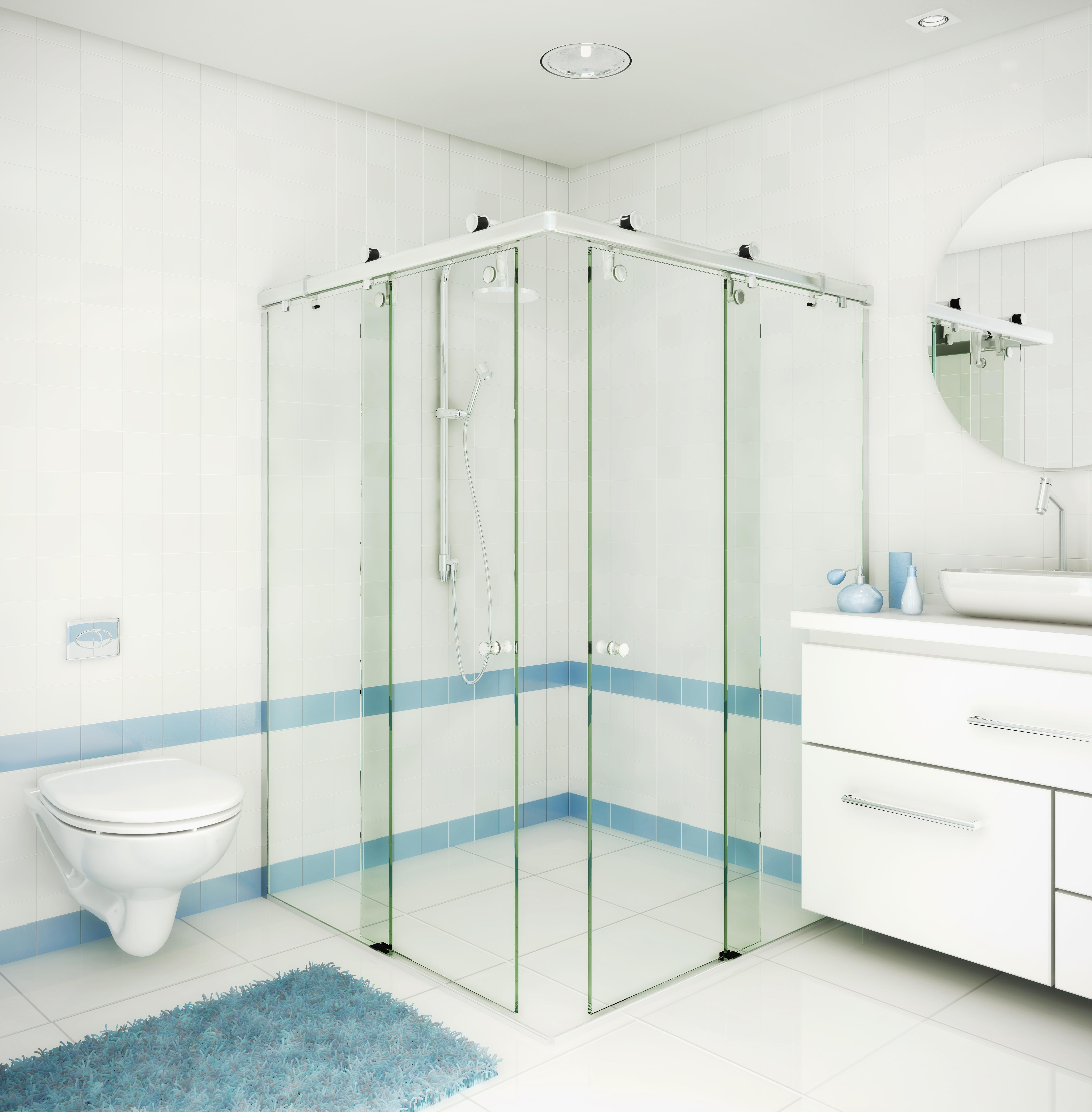Encanto Box de Canto para Banheiro da Ideia Glass.jpg #4C7480 4912x5000 Banheiro Com Box De Canto